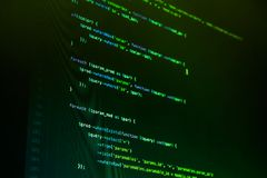 Php code on green background in code editor. Green php code on green background in code editor stock image