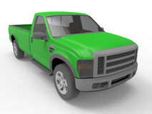 Green pick up truck illustration Royalty Free Stock Images