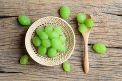 Green pickle myrobalan fruit Royalty Free Stock Photos