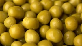 Green pickled peas rotate background. Slow motion footage stock video footage