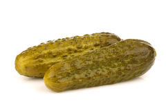 Green pickles Stock Photos