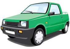Green pickup Stock Images