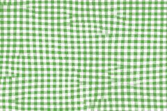 Green picnic blanket fabric with squared patterns and texture vector illustration