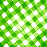 Green picnic cloth Stock Photos