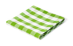 Green picnic tablecloth isolated Stock Image