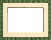 Green Picture frame Stock Image