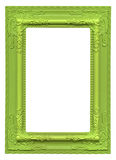 Green picture frame Stock Images