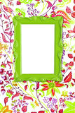 Green picture frame Stock Photography