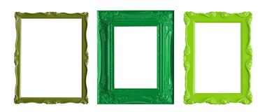 Green picture frames Stock Photo