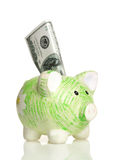 Green Piggy Bank Royalty Free Stock Images