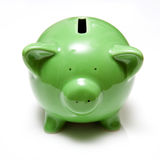 Green piggy bank Stock Image