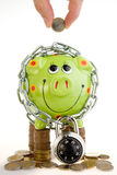 Green Piggy Bank Stock Photos