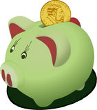 Green, Piggy Bank, Snout, Product Design stock photo