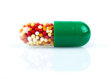 Green pill Royalty Free Stock Image