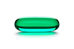 Green pill Stock Photo