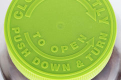 Green Pill Bottle Top Stock Photos