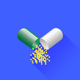 Green Pill Royalty Free Stock Images