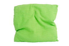 Green pillow. Isolated on white background - clipping path included Royalty Free Stock Images