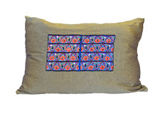 Green pillow with pattern Royalty Free Stock Photography