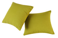 Green pillows. Isolated Stock Photography
