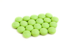 Green pills Royalty Free Stock Photos