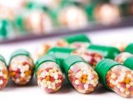 Green Pills Stock Images