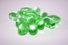 Green Pills. Gren pills from the pharmacy royalty free stock images