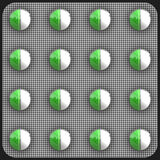 Green pills Stock Photos