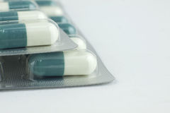 Green pills macro shoot Royalty Free Stock Photography