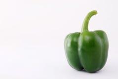 Green pimento. Healthy fruit on white background Royalty Free Stock Photos