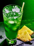 Green pineapple cocktail  on dark background 51 Stock Photos