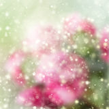 Green and pink bokeh background stock illustration