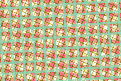 Green, Pink Computer Generated Abstract Geometric Pattern Royalty Free Stock Photography