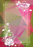 Green pink floral border Royalty Free Stock Photography