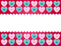 Green and pink hearts frame Royalty Free Stock Images