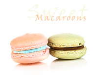 Green and pink macaroons Royalty Free Stock Image