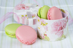 Green and pink macaroons Stock Image