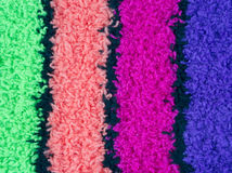 Green pink magenta and blue fleece Royalty Free Stock Photography