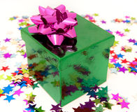 Green and pink present Stock Photo