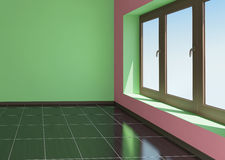 Green and pink room Stock Photo