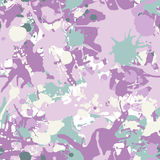 Green and pink shades ink paint splashes seamless pattern Stock Photography