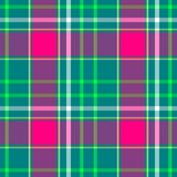 Green pink white check diamond tartan plaid fabric seamless pattern Stock Image