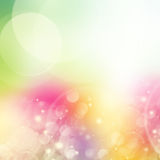 Green, pink  and yellow bokeh background Royalty Free Stock Photos