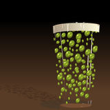 Green Pint. A pint of beer with green bubbles Royalty Free Stock Images