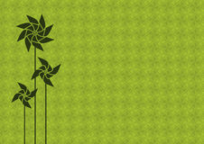 Green pinwheel background Royalty Free Stock Photos