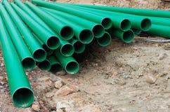 green pipes pvc Fotografering för Bildbyråer