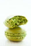 Green pistachio macaroons Stock Photography