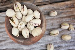 Green pistachio nut Royalty Free Stock Images
