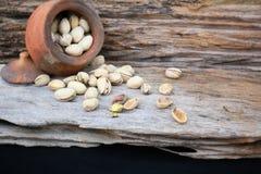 Green pistachio nut Stock Photos