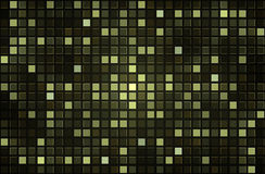 Green pixel mosaic background. Abstract green square pixel mosaic background Stock Images